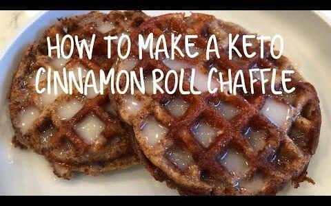How to make a keto cinnamon roll chaffle    easy keto dessert